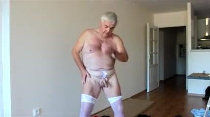 Mature man loves crossdressing Black guy nude in shower