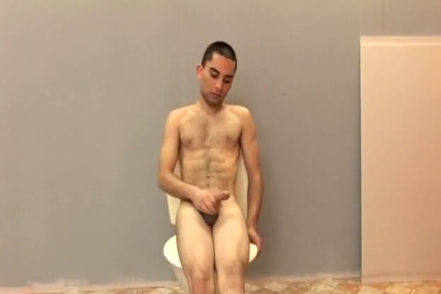 Hairy boy strokes cock to hardness Fully nude pics