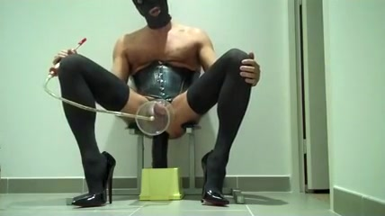 Masculine fetish Uncut Tranny Pump and Cum Mature slut farting on cam